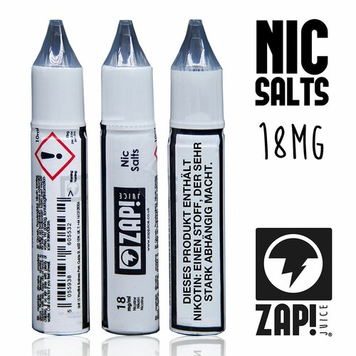 ZAP! Juice - Nic Salt Shots - 18 mg/ml