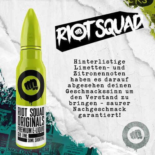 Riot Squad - Sub Lime - 50ml (Shortfill)