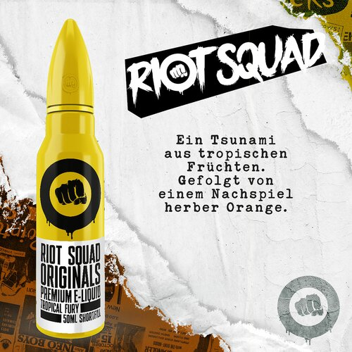 Riot Squad - Tropical Fury - 50ml (Shortfill)