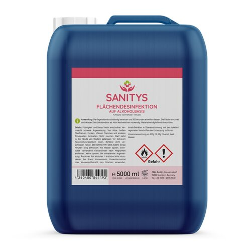 Sanitys - Surface disinfectant - 5000ml (1 canister)