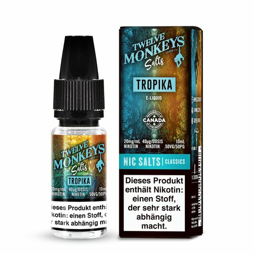 Twelve Monkeys - Tropika - Nikotinsalz - 10ml - 20mg/ml